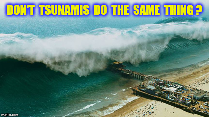 DON'T  TSUNAMIS  DO  THE  SAME  THING ? | made w/ Imgflip meme maker
