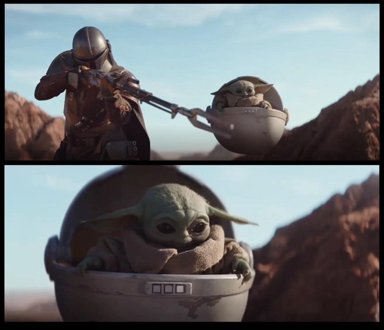 Mando & Baby Yoda Blank Template - Imgflip