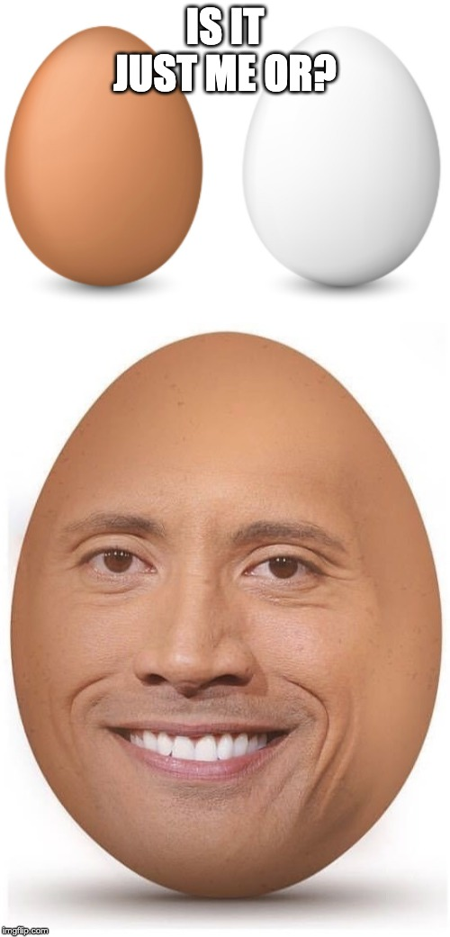 The Rock | IS IT JUST ME OR? | image tagged in funny,bald,xd,lol,dank,the rock | made w/ Imgflip meme maker