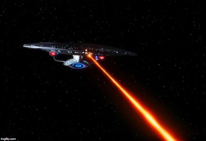 Enterprise D firing phasers | . | image tagged in enterprise d firing phasers | made w/ Imgflip meme maker