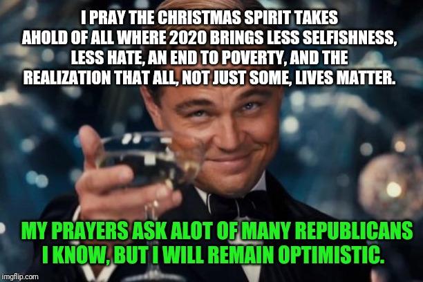 Less Christmas Spirit In 2020 Leonardo Dicaprio Cheers Meme   Imgflip