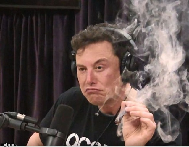 image tagged in elon musk smoking a joint | made w/ Imgflip meme maker