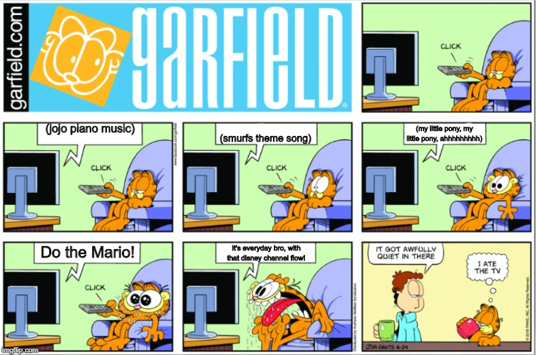 Image Tagged In Garfield Gets Hungry At Tv Imgflip