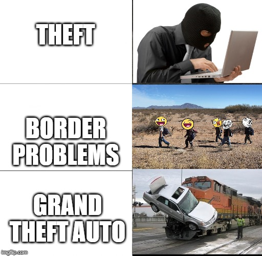 Police Car  | THEFT BORDER PROBLEMS GRAND THEFT AUTO | image tagged in police car | made w/ Imgflip meme maker