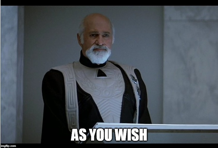 As You Wish | AS YOU WISH | image tagged in star trek,captain kirk yes,judge,spock | made w/ Imgflip meme maker