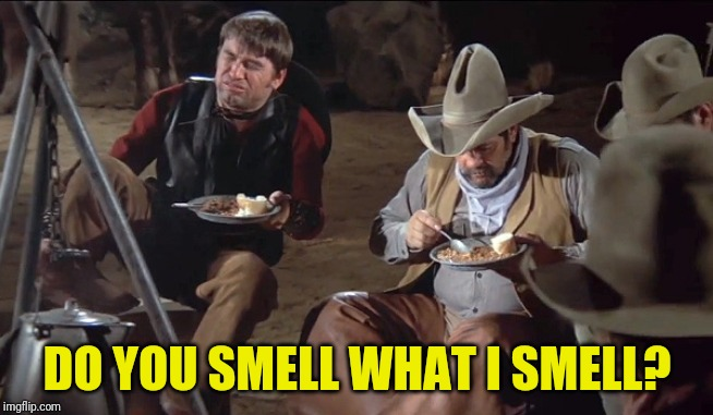 Not so silent night |  DO YOU SMELL WHAT I SMELL? | image tagged in blazing saddles,do you hear what i hear | made w/ Imgflip meme maker