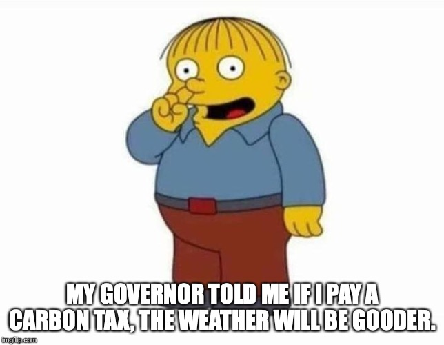 MY GOVERNOR TOLD ME IF I PAY A CARBON TAX, THE WEATHER WILL BE GOODER. | image tagged in oregon,global warming,taxes | made w/ Imgflip meme maker