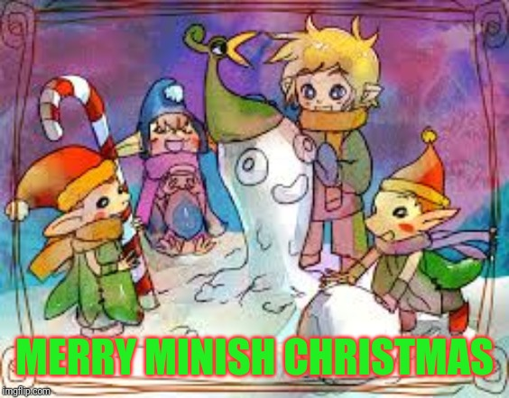 Christmas in Hyrule |  MERRY MINISH CHRISTMAS | image tagged in legend of zelda,minishcap,christmas | made w/ Imgflip meme maker