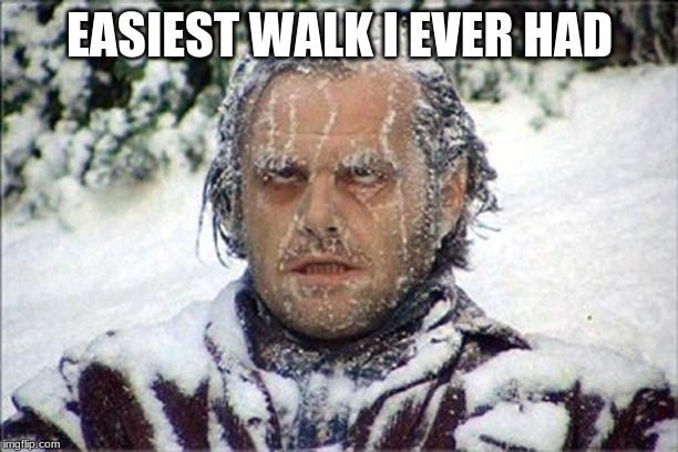frozen jack | EASIEST WALK I EVER HAD | image tagged in frozen jack | made w/ Imgflip meme maker