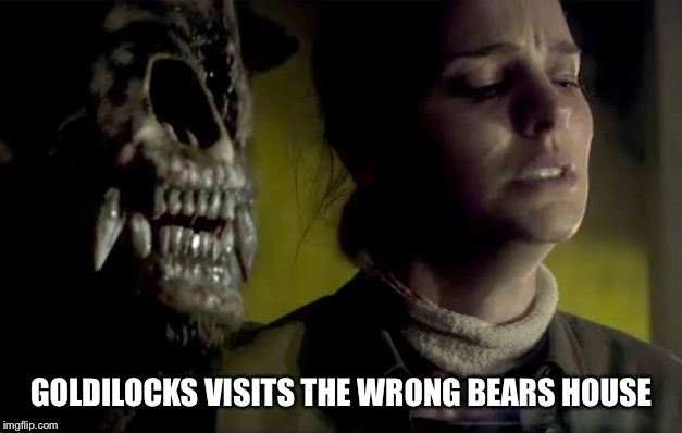 Goldilocks bear |  GOLDILOCKS VISITS THE WRONG BEARS HOUSE | image tagged in animals,horror,bear | made w/ Imgflip meme maker