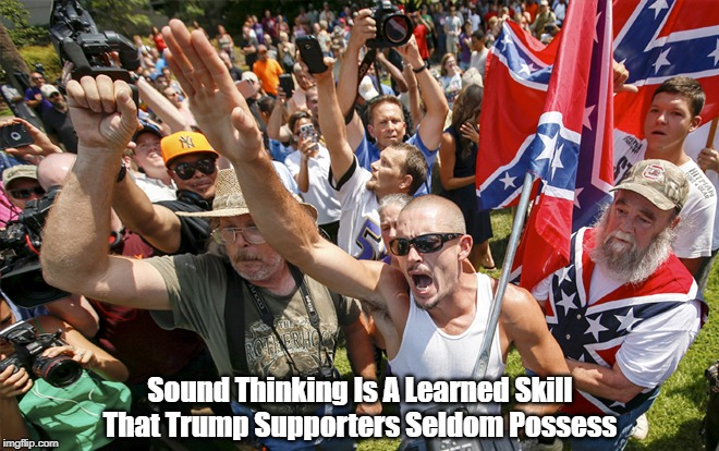 Sound Thinking Is A Learned Skill That Trump Supporters Seldom Possess | made w/ Imgflip meme maker