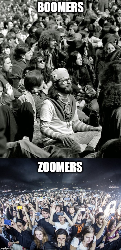 Boomers and Zoomers | BOOMERS ZOOMERS | image tagged in boomer,ok boomer,next generation,people | made w/ Imgflip meme maker