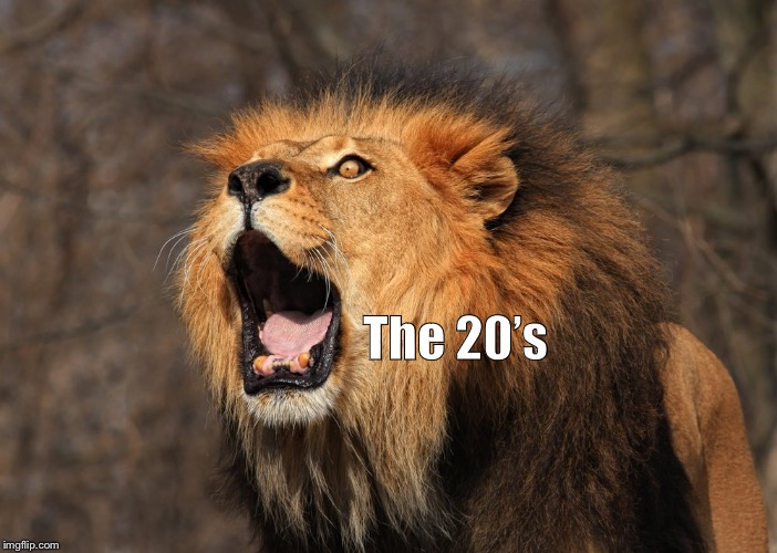 The 20's | image tagged in roaring 20s | made w/ Imgflip meme maker