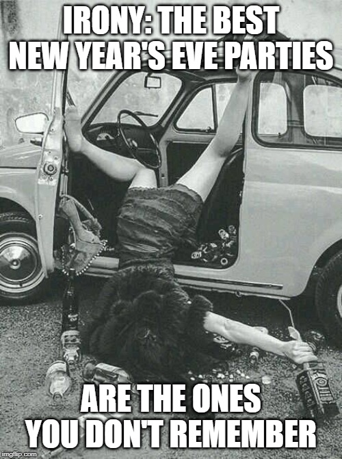 i do remember vomiting though | IRONY: THE BEST NEW YEAR'S EVE PARTIES ARE THE ONES YOU DON'T REMEMBER | image tagged in drunk girl,new year,new years eve,happy new year | made w/ Imgflip meme maker