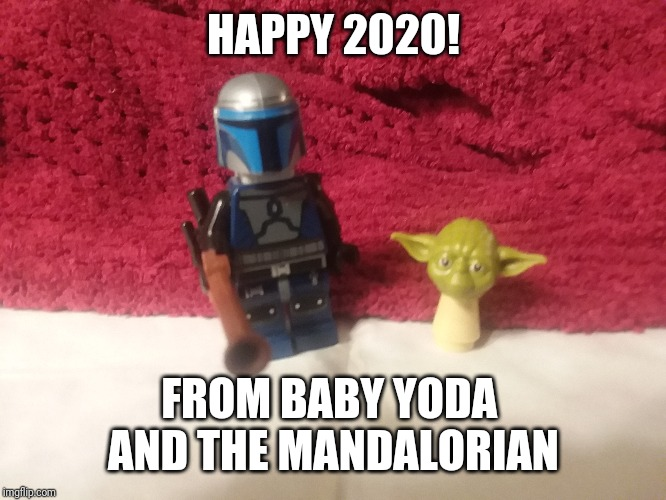 Baby YODA New year |  HAPPY 2020! FROM BABY YODA  AND THE MANDALORIAN | image tagged in yoda,baby yoda,mandalorian,2020,happy new year | made w/ Imgflip meme maker