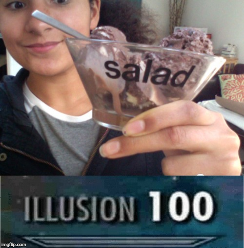 umm... | image tagged in illusion 100,memes,funny,salad,icecream,food | made w/ Imgflip meme maker