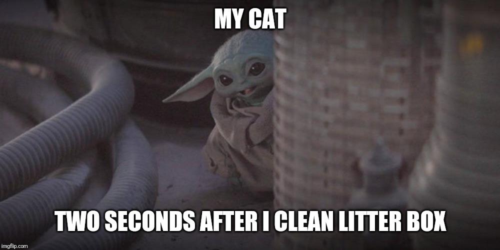 Baby Yoda Peek Memes - Imgflip