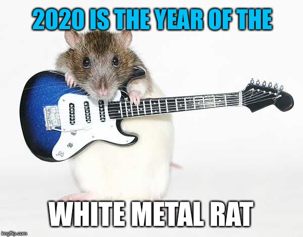 Chinese Zodiac 2020 |  2020 IS THE YEAR OF THE; WHITE METAL RAT | image tagged in chinese new year,zodiac,2020 | made w/ Imgflip meme maker