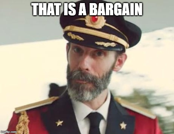 Captain Obvious | THAT IS A BARGAIN | image tagged in captain obvious | made w/ Imgflip meme maker
