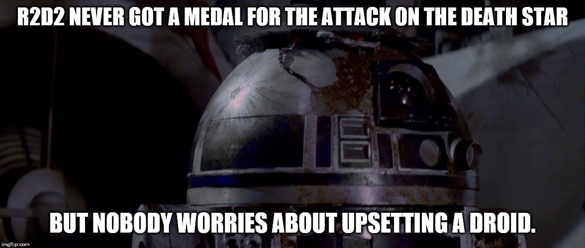 image tagged in star wars,r2d2 | made w/ Imgflip meme maker