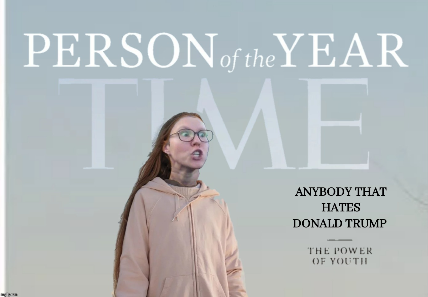 Social Justice Worrier | T | image tagged in bad photoshop,time magazine person of the year,social justice warrior,greta thunberg | made w/ Imgflip meme maker