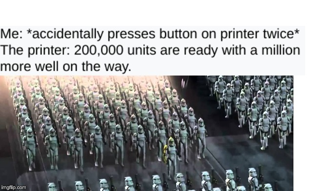 image tagged in star wars,funny,memes,clone trooper,haha,hahaha | made w/ Imgflip meme maker