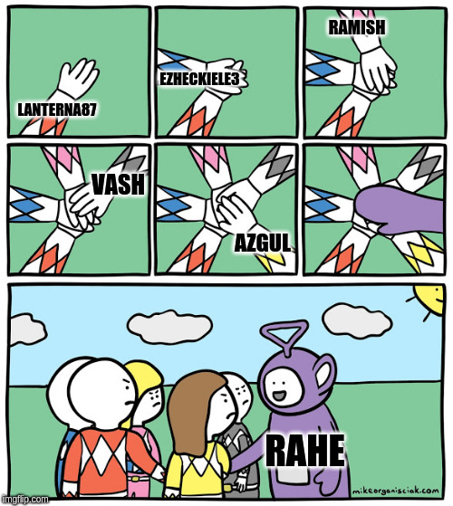 RAMISH; EZHECKIELE3; LANTERNA87; VASH; AZGUL; RAHE | image tagged in not welcome | made w/ Imgflip meme maker