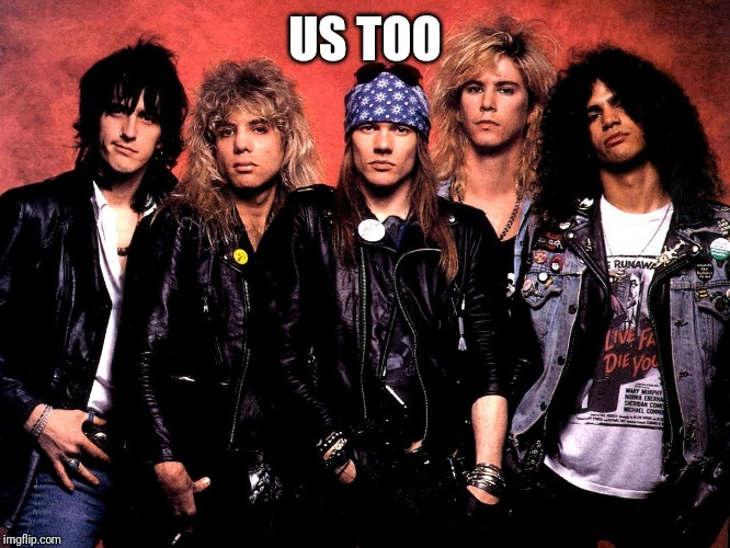 Guns and Roses | US TOO | image tagged in guns and roses | made w/ Imgflip meme maker