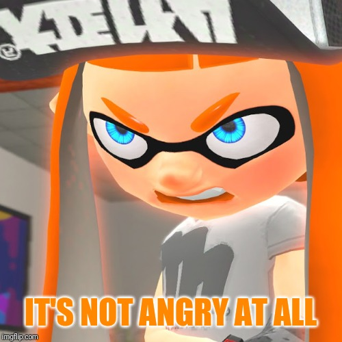 Angry Woomy | IT'S NOT ANGRY AT ALL | image tagged in angry woomy | made w/ Imgflip meme maker