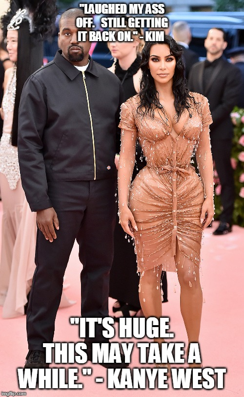 "Kim&Kanye - ""Was the movie funny?"" 