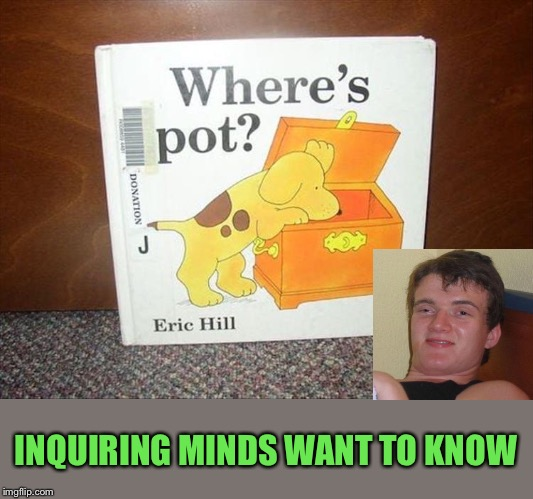 10 guys' best hiding spots. | INQUIRING MINDS WANT TO KNOW | image tagged in weed,10 guy,memes,funny | made w/ Imgflip meme maker
