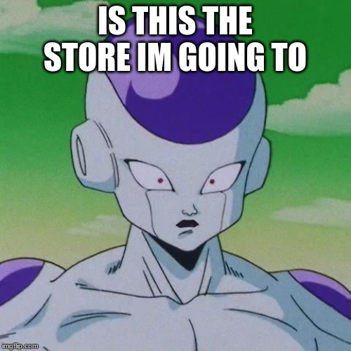 First Time Frieza | IS THIS THE STORE IM GOING TO | image tagged in first time frieza | made w/ Imgflip meme maker