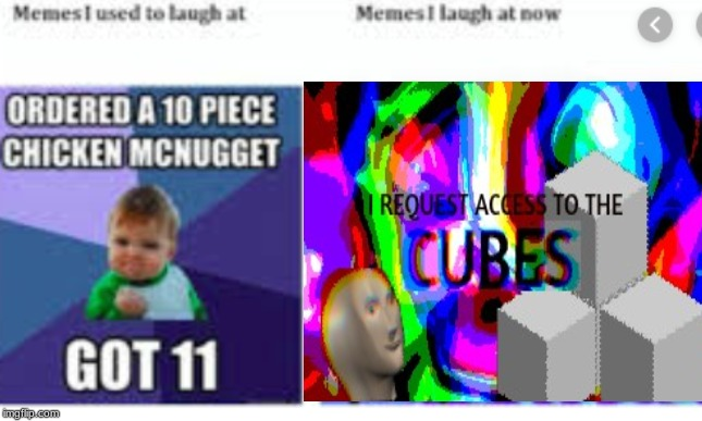 Old vs New | image tagged in fist pump baby,cubes,then vs now | made w/ Imgflip meme maker