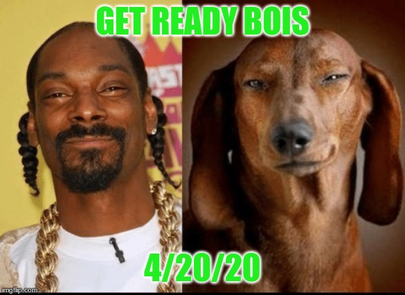 4/20/20 | GET READY BOIS 4/20/20 | image tagged in snoop dogg,420,shitpost | made w/ Imgflip meme maker