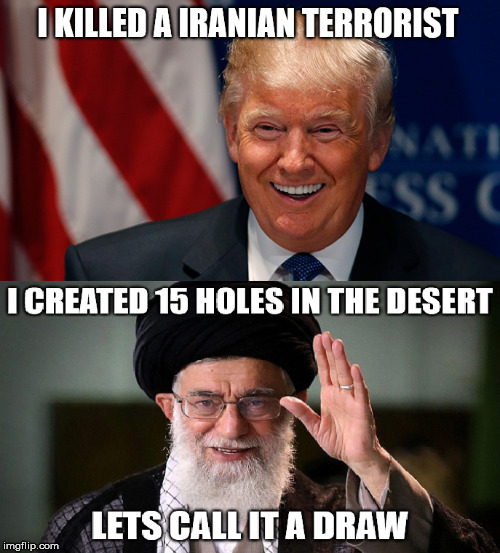What happened to WWIII? | image tagged in donald trump,iran,triggered liberal,war on terror,liberal logic,democrats | made w/ Imgflip meme maker