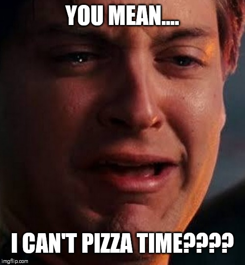 When it's not pizza time | YOU MEAN.... I CAN'T PIZZA TIME???? | image tagged in when it's not pizza time | made w/ Imgflip meme maker