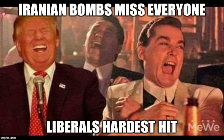 Iranian revenge | IRANIAN BOMBS MISS EVERYONE LIBERALS HARDEST HIT | image tagged in iran,libtards | made w/ Imgflip meme maker