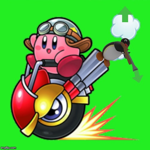 Kirby on a wheelie | image tagged in kirby on a wheelie | made w/ Imgflip meme maker