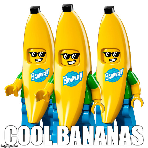 Lego Minifigures - Banana Suit Guy 71013 Minifigure Minifig | COOL BANANAS | image tagged in cool bananas,lego,minifigure,banana,cool,meme | made w/ Imgflip meme maker