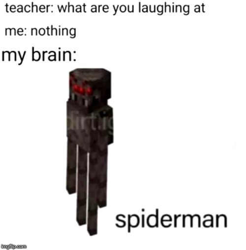 image tagged in minecraft,spider,enderman,spiderman,combined | made w/ Imgflip meme maker