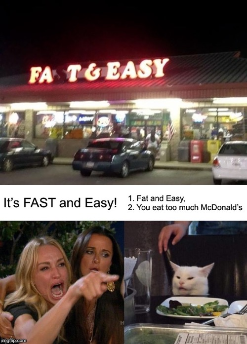 Fatty Fats! | image tagged in fat,memes,funny,woman yelling at cat,easy,lol | made w/ Imgflip meme maker