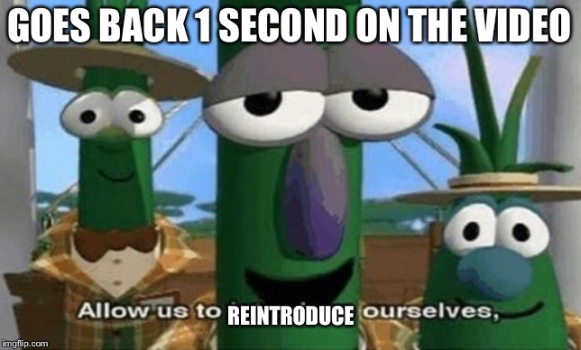 GOES BACK 1 SECOND ON THE VIDEO REINTRODUCE | image tagged in allow us to introduce ourselves | made w/ Imgflip meme maker