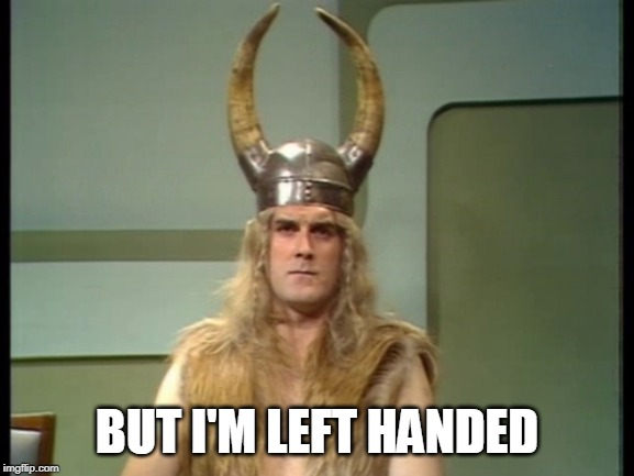 Viking | BUT I'M LEFT HANDED | image tagged in viking | made w/ Imgflip meme maker