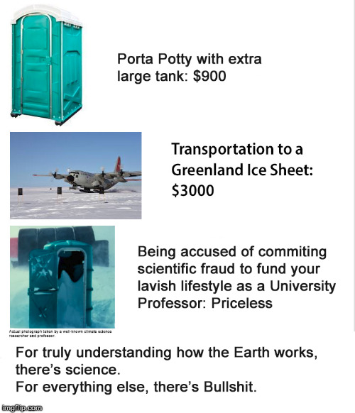 Greenland Express | image tagged in climate change,global warming,porta potty,science | made w/ Imgflip meme maker