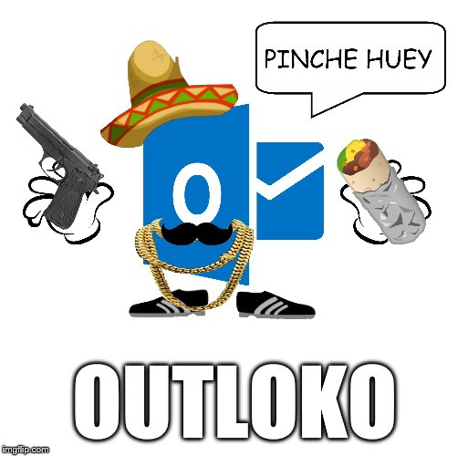 Outloko | OUTLOKO | image tagged in outlook,microsoft,tech,it,funny,email | made w/ Imgflip meme maker