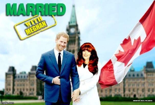Married With Peghan |  MEGHAN; MEME BY: PAUL PALMIERI | image tagged in meghan markle,prince harry,married with children,funny memes,hilarious memes,harryandmeghan | made w/ Imgflip meme maker