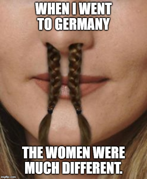 WHEN I WENT TO GERMANY THE WOMEN WERE MUCH DIFFERENT. | image tagged in germany | made w/ Imgflip meme maker