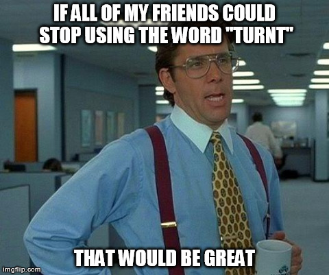 "That Would Be Great Meme | IF ALL OF MY FRIENDS COULD STOP USING THE WORD ""TURNT"" THAT WOULD BE GREAT 
