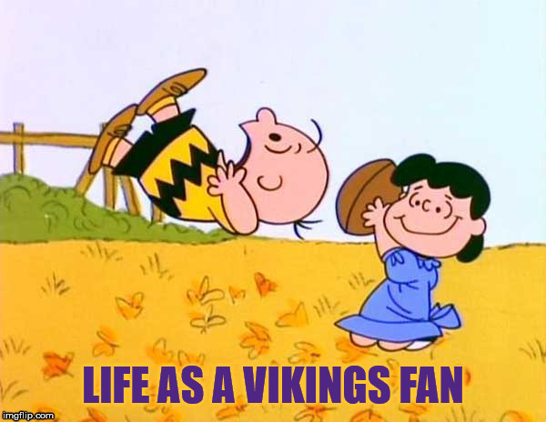 Life as a Vikings fan | image tagged in nfl,minnesota vikings | made w/ Imgflip meme maker