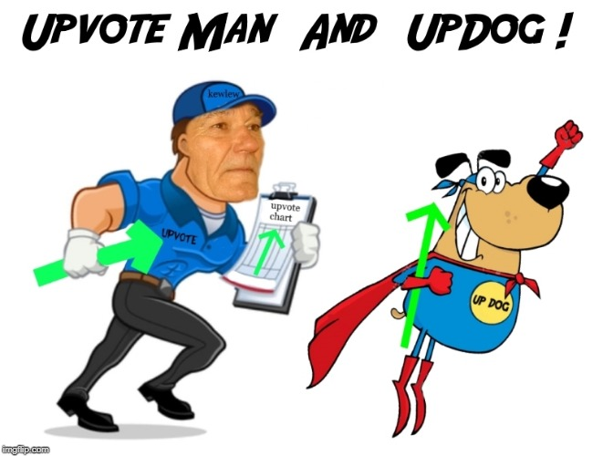 upvote man and upvote dog | image tagged in upvote man and upvote dog | made w/ Imgflip meme maker